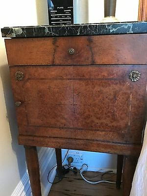 Bedside cabinet, timber, antique, French 1916