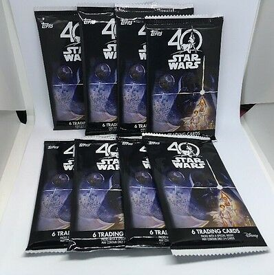 8x 40th Anniversary Star Wars Factory Seal Pack (BRAND NEW) **HOT**