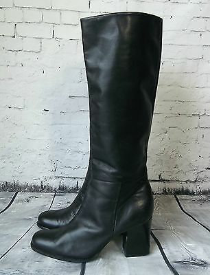 NINE WEST [ Size 8.5 ] Classy Black Leather Knee High Boots