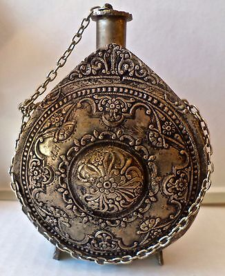 Antique Silver Alloy Chinese China Flask Vessel