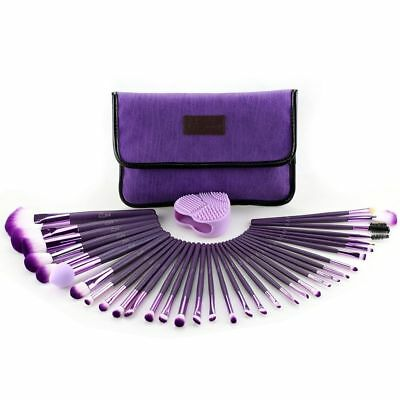 Glow 30 Pcs Professional Make up Brushes Set in a Cosmetic Case Makeup Kit