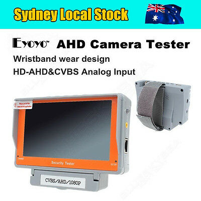 "AU! EYOYO Wrist 5"" AHD CCTV Camera Test Display Monitor Tester Audio 12V-Output"