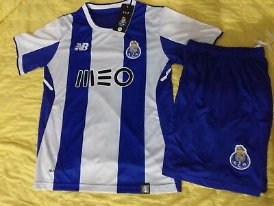 Top Quality FC Porto FCP Home  Soccer Jersey Set Shirt Shorts Kids Youths