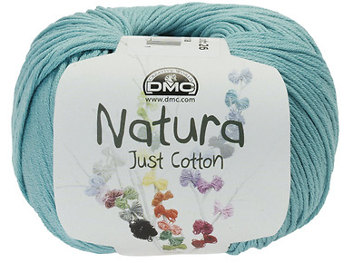 2 balls DMC Natura Just Cotton Crochet / Knitting Yarn 50g ea  Aquamarine N25