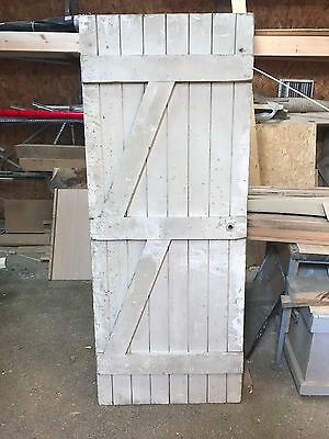 Genuine reclaimed ledge and brace solid pine door