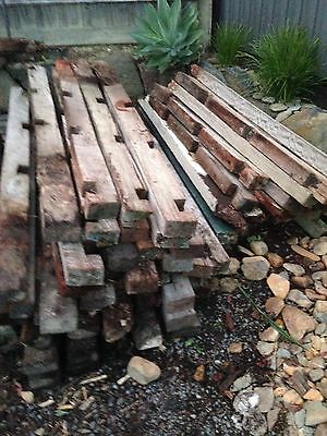 Firewood Red gum old fence posts x30