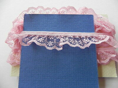 Card of New Gathered Lace - Pink