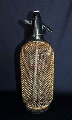 Retro Bar Bling Gorgeous Gold Mesh Bohemia Soda Syphon