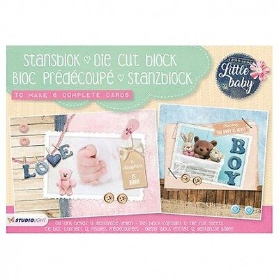 Stanzblock - Scrapbook - Karten - Little Baby - A5 / 148 x 210 mm