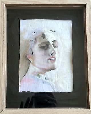 Mixed Medium Female Portrait Inspired By the Masters