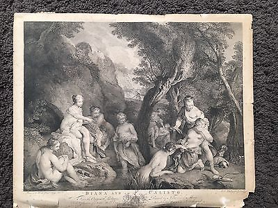 Diana And Calisto J Boydell  1767 Engraving