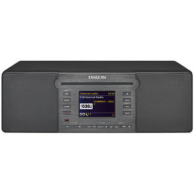 Sangean Internet Radio DAB+ FM-RDS CD USB SD AUX BT SD Tabletop System DDR66BT