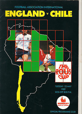 1989  England v Chile   (Rous Cup)