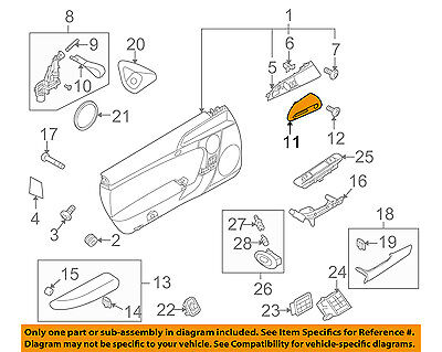 PORSCHE OEM 11-12 Boxster Door-Handle Cover Left 98755546300A03