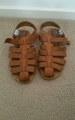 Brown leather sandals size 8