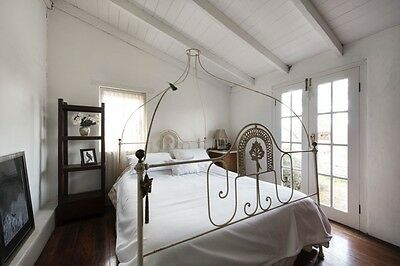 Antique French Iron Double Canopy Bed