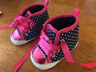 Carters Girls Baby Shoes 0-3 Months NEW!