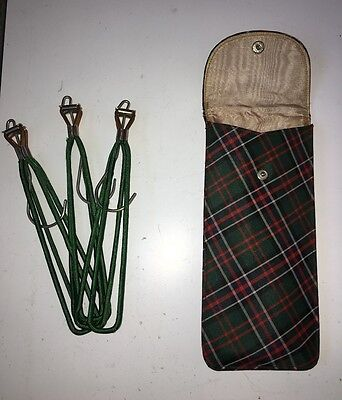 Rare ANTIQUE English travel Hangers & Case Made in England  1940's