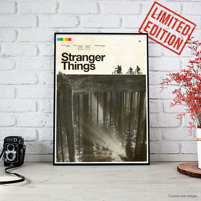 STRANGER THINGS - 2016 CONCEPCION STUDIOS Fine Art Print POSTER Locandina HD