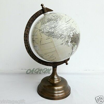 Antique Base World Globe Vintage Style Table Top Decorative Globes