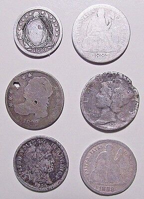***6***Silver Orphans Dimes...Mixed Years And Conditions