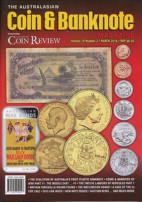 The Australasian Coin and Banknote Magazine, March 2016, Volume 19, Number 2