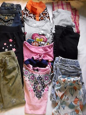 12 PC Lot Mixed Girls Clothes Shirts Pants Jeans  Size 5 5T