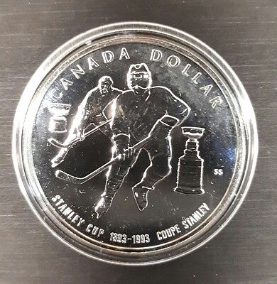 Canada Silver Dollar - $1 COIN - 1993 Stanley Cup