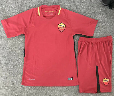 17 Top Quality Roma Soccer Jersey Set Shirt Shorts Kids Youths