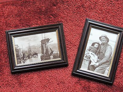 2 Frank Meadow Sutcliffe Reproduction Victorian Framed Postcards Of Whitby