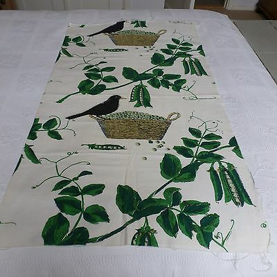Truly stunning piece of vintage fabric .Blackbird and peas .Cushions .picture
