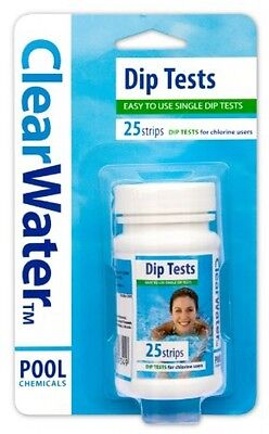 Clearwater Dip Test Pool Water Testing Kit Chemical Swimming Tub Garden Safety