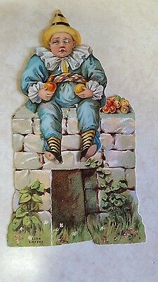 1800's Die Cut Advertising Trade Card Paper Doll Humpty Dumpty 2 pc Lion Coffee