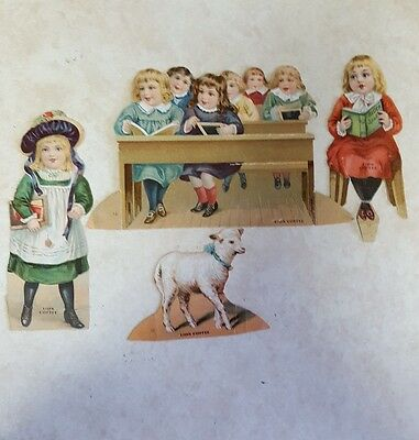 1800's Die Cut Advertising Trade Card Paper Doll Mary Had A Little Lamb. Lion Co