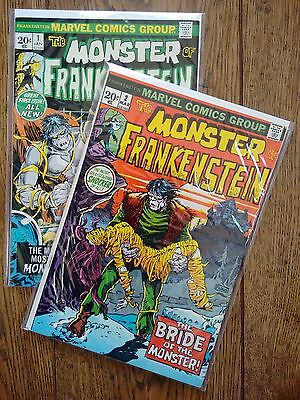 The Monster of Frankenstein - Marvel - No 1 and No 2