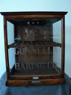 Antique Gonnella Baking Co. Display Case - General Store Counter Display