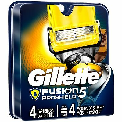 Gillette Fusion ProShield Men's Razor Blade Refills 4 Count Factory Sealed