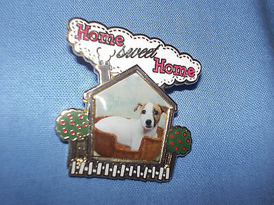 Danbury Mint Jack Russell Terrier Dog Pin Badge (Home Sweet Home)