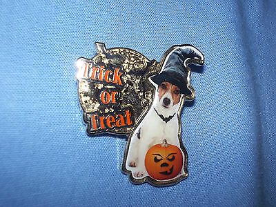 Danbury Mint Jack Russell Terrier Dog Pin Badge (Trick Or Treat)