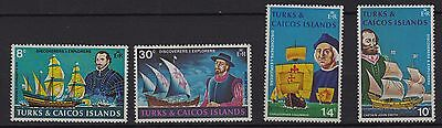 V4) x4 TIMBRES stamps (Neuf**MNH TBE) TURKS & CAICOS ISLANDS (Ships)