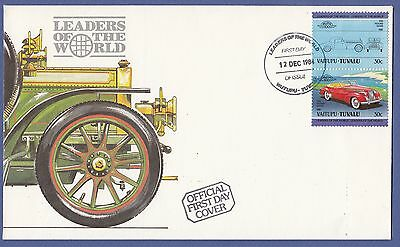 H61) Cars-Voitures) Enveloppe FDC VAITUPU-TUVALU 1984 First day cover //1er jour