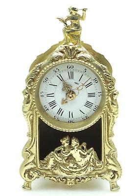 Good French Antique Tic Tac Carriage Mantel Clock Working Order Alarm Feature