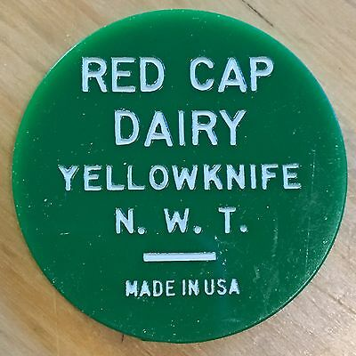 Red Cap Dairy; Good For 1 Quart Token; Yellowknife NWT, Canada (#x173)
