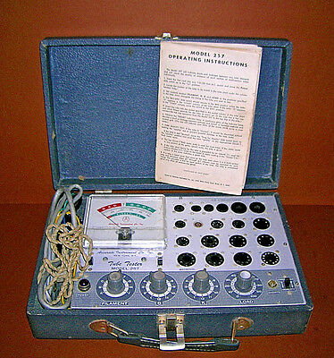 Accurate Instrument Co. Tube Tester Model 257 Ham In Case W/ Manual