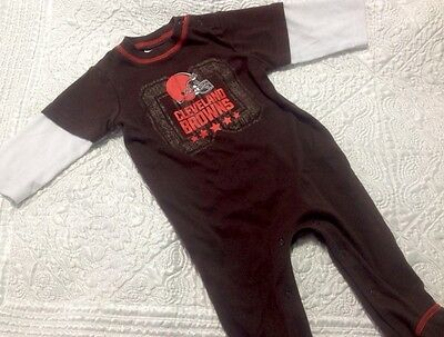 Baby boy Cleveland Browns pajamas size 6-9 months NFL apparel