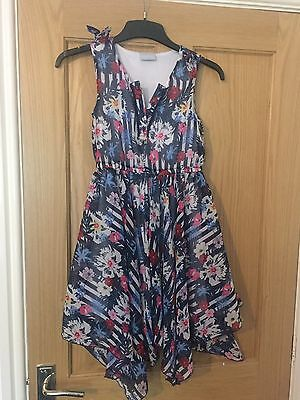 Girls Floaty Summer Floral Party Dress Age 10