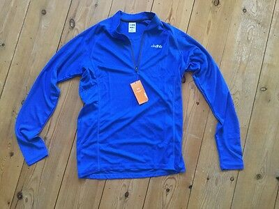 Dhb Long Sleeved Blue Cycle Jersey (L)