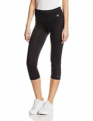 Champion donna 3/4 Leggings, Donna, 3/4 Leggings, nero, XL