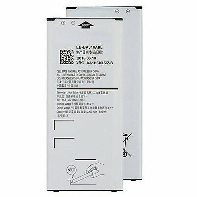 For Samsung Galaxy A3 A310 2016 Genuine Replacement Battery EB-BA310ABE 2300mAh
