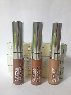 Clinique all about shadow primer for eyes 02 moderately, fair 03 medium, 04 deep